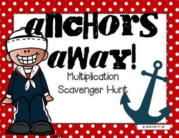 Multiplication Scavenger Hunt-(Whole Numbers)