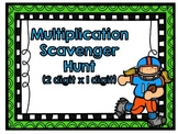 Multiplication Scavenger Hunt-Two Digits by One Digit