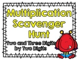 Multiplication Scavenger Hunt-Two and Three Digits by Two Digits