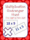 Multiplication Scavenger Hunt- one-digit by two-digit