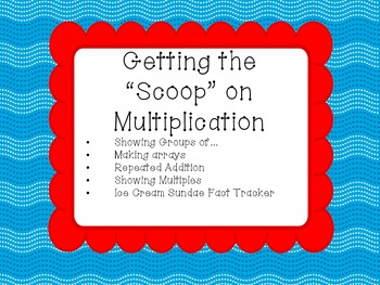 Multiplication Scoops - Ice Cream Themed Multiplication Activities