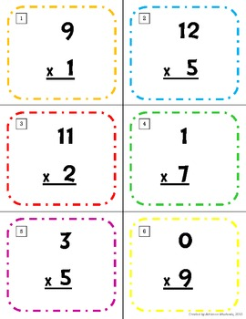 Multiplication Scoot (1-12 times tables)