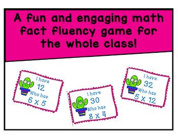 Multiplication Scoot (12 x 12)