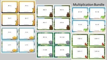 Multiplication Scoot Activity/Task Card Bundle