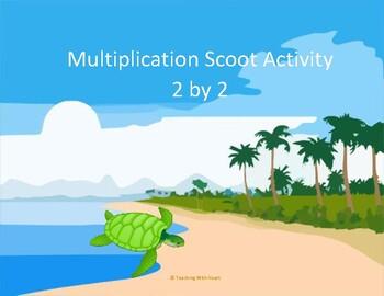 Multiplication Scoot Activity/Task Cards (2 digit x 2 digit)