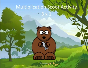 Multiplication Scoot Activity (3 digit x 1 digit)