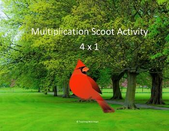 Multiplication Scoot Activity (4 digit x 1 digit)