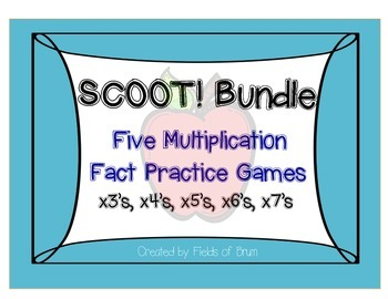Multiplication Scoot Bundle x3 to x7