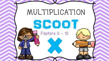 Multiplication Scoot or Task Cards - Factors 0 - 10