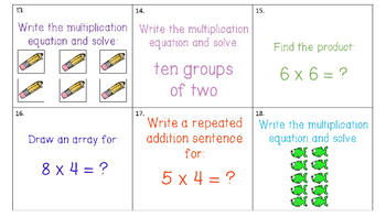 Multiplication Scoot or Task Cards