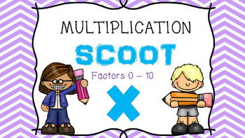 Multiplication Scoot or Task Cards - Factors 0 - 10