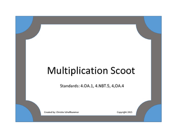 Multiplication Scoot Game!