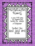 Multiplication Scoot! Grades 2 and 3