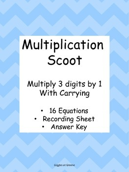 Multiplication Scoot - Multiple Digits