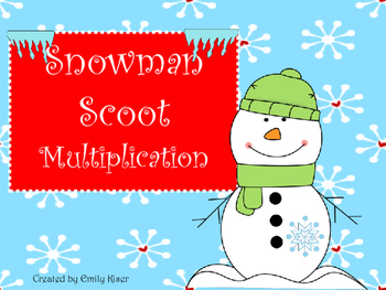 Multiplication Scoot - Snowman