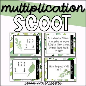 Multiplication Scoot - Spring Themed