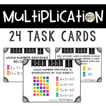 Multiplication Scoot Task Card Game