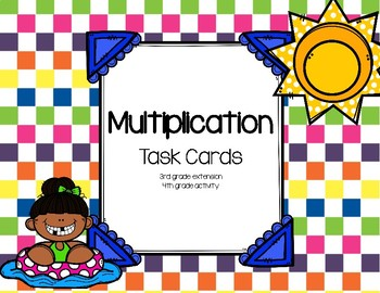 Multiplication Scoot Task Cards 2-Digit x 1-Digit