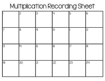 Multiplication Scoot Task Cards 2-Digit x 1-Digit