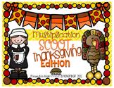 Multiplication Scoot: Thanksgiving Edition!