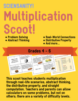Multiplication Scoot with Decimals
