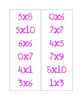 Multiplication Scooter PE Game