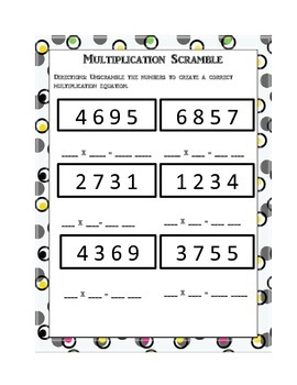 Equation Scrambler: Mutiplication