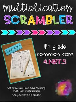 Multiplication Scrambler - 4.NBT.5