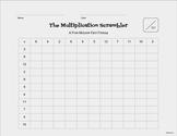 Multiplication Scrambler -- A Five Minute Fact Frenzy