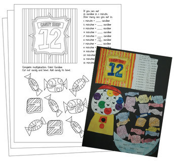 Multiplication Scrapbook - Times Tables 2-12 - worksheets and activities