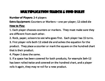 Multiplication Search and Find