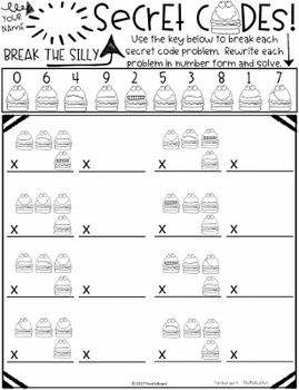 Fun Multiplication Practice - Secret Codes