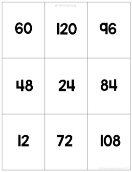 Multiplication Self-Checking Picture Puzzles