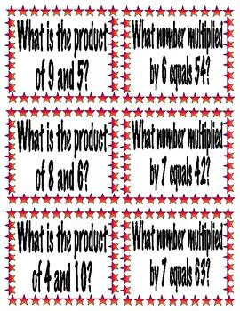 Multiplication Sentence Frames Pack