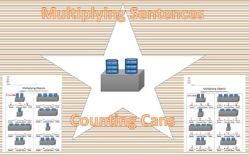 Multiplication Sentences - Counting Cans