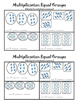 Multiplication Sentences from Equal Groups