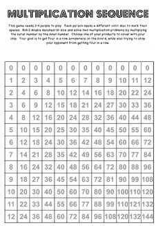 Multiplication Sequence-A Game for Practicing Basic Mulitplication Facts