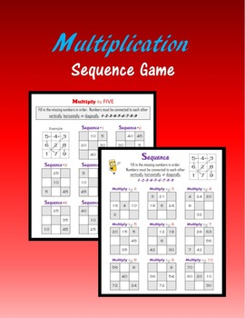 Multiplication:  Sequence Game