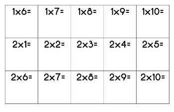 Multiplication Sequence Game - Finding Products on Board and Get 4 in a Row