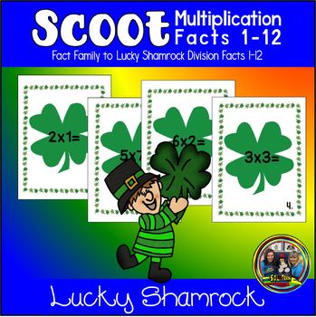 St. Patrick's Day Math Scoot for Multiplication