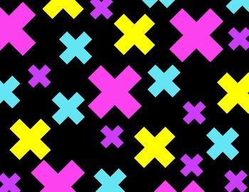 Multiplication Sign Background Digital Paper