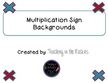 Multiplication Sign Background - Freebie