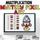 Multiplication Single Digit Mystery Pixel Art Distant Learning