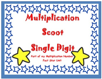 Multiplication Single Digit Scoot