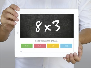 MATH: Multiplication Single Digits Trivia - Interactive PowerPoint Presentation
