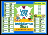 Multiplication Sixes Math Center Station Game