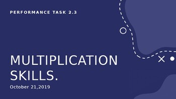 Multiplication Skills Performance task for Grade 2