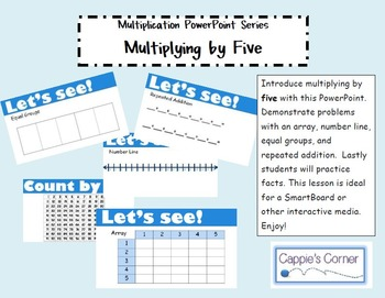 Multiplication Skills PowerPoint - Multiplying by Five