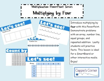 Multiplication Skills PowerPoint - Multiplying by Four
