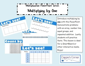 Multiplication Skills PowerPoint - Multiplying by One